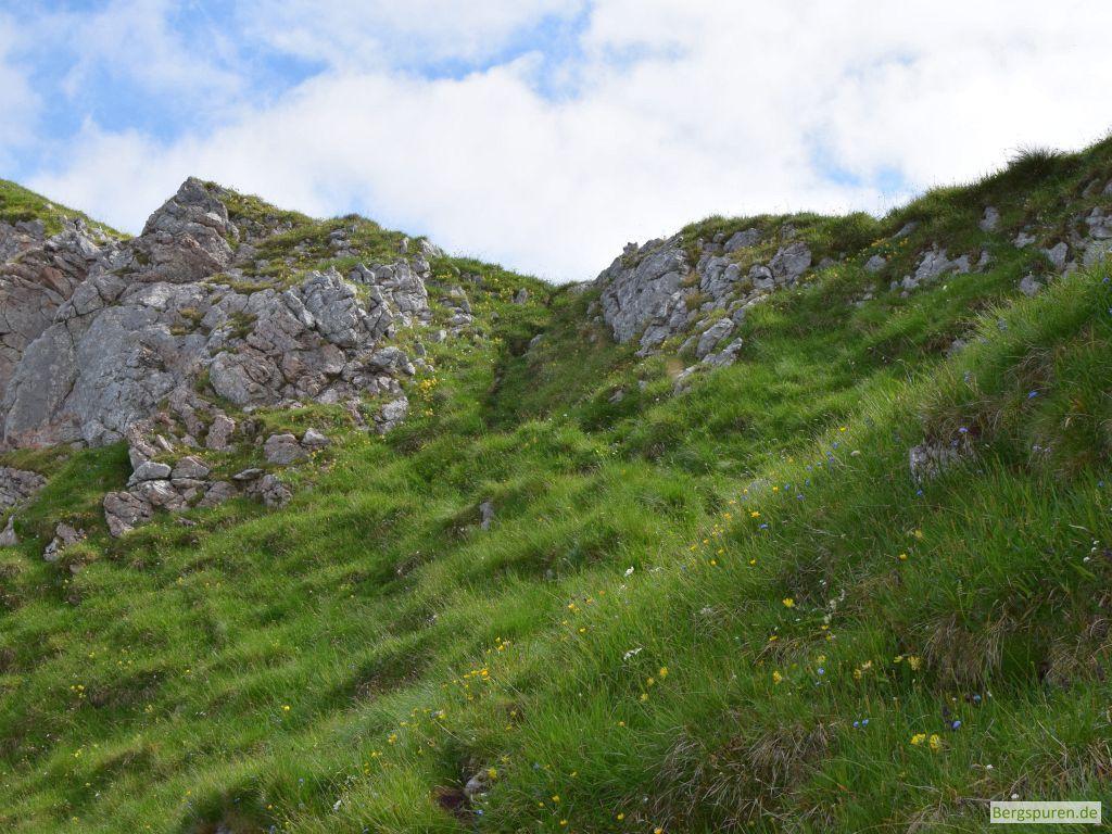 Ausstieg aus Fagstein-Südflanke