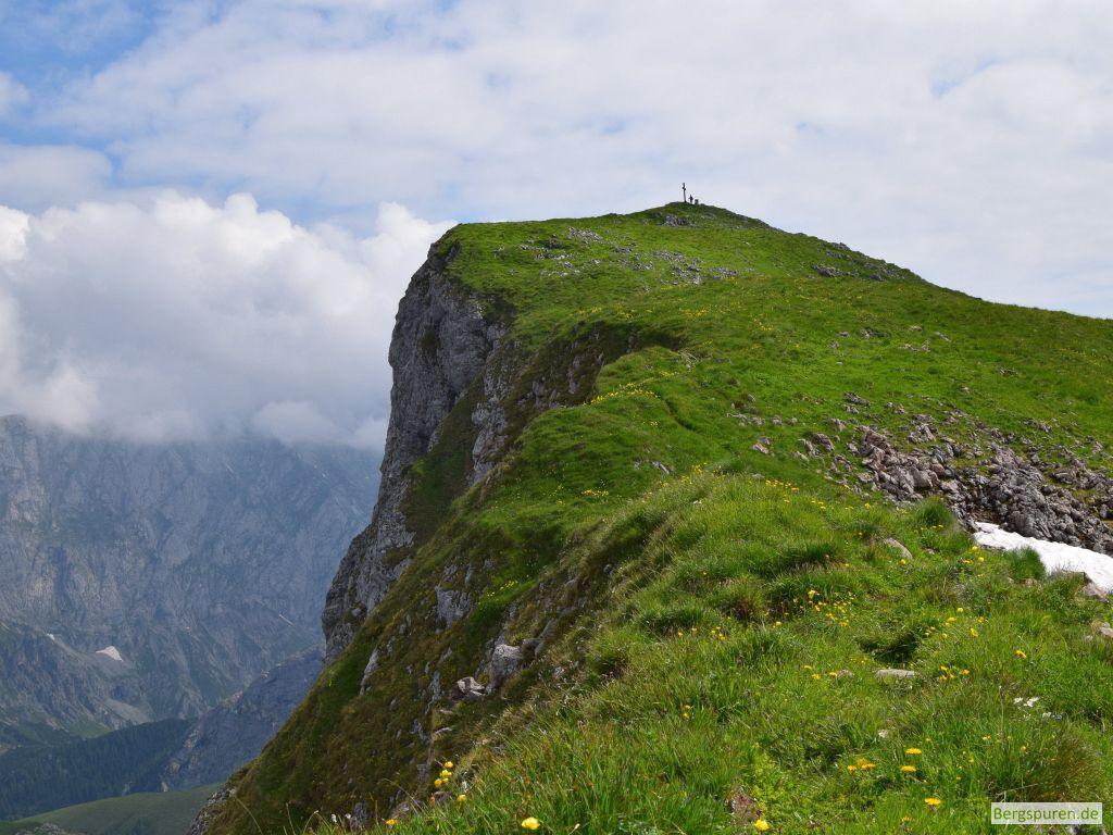 Letzte Meter zum Gipfel des Fagstein