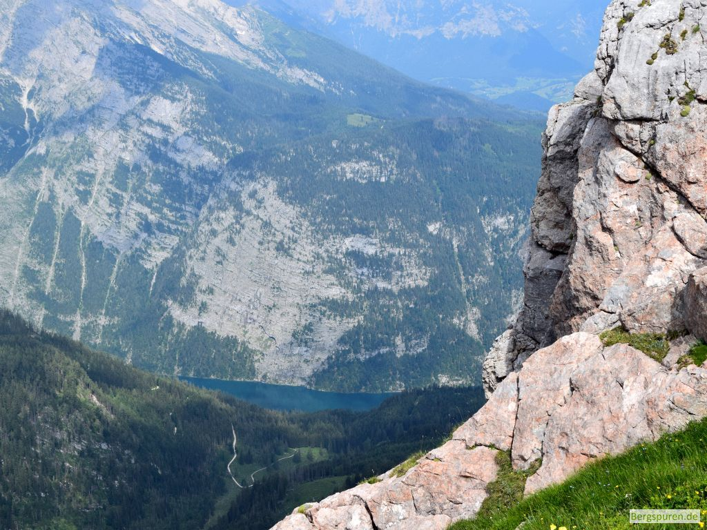 Blick vom Fagstein auf Gotzentalalm und Königssee