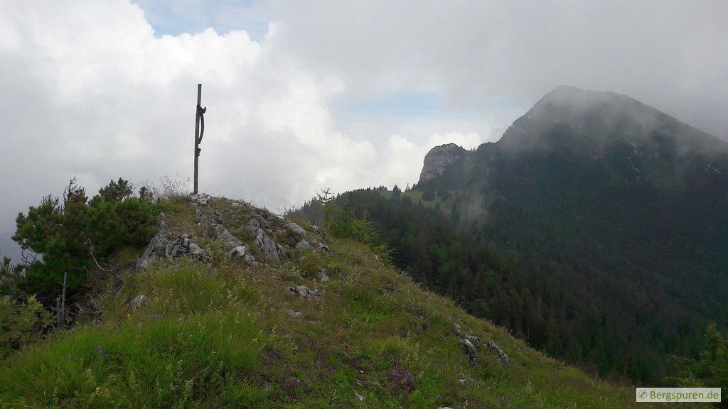 Gruberhörndl - Gipfel mit Gipfelkreuz