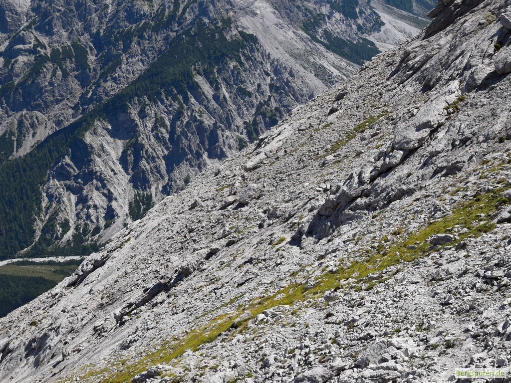 Ausstieg Kaunrad am Hinterbergkopf