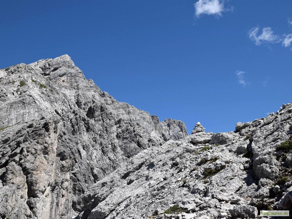 Steinmann oberhalb der Sittersbachscharte
