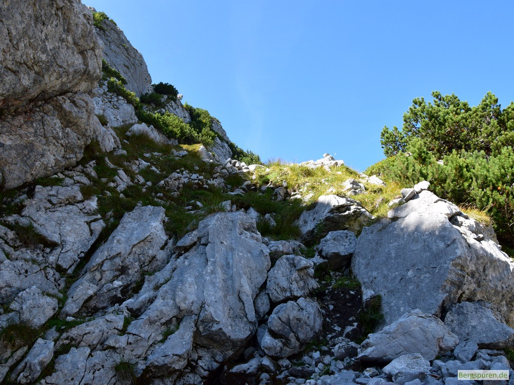 Gipfelanstieg auf den Hochsäul
