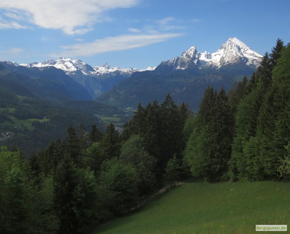Blick zum Watzmann vom Kneifelspitzweg