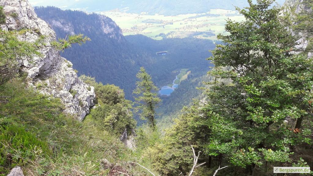 Tiefblick auf Falkensee und Krottensee