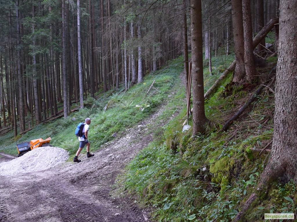 Abzweigung in der Nähe des Sittersbachs
