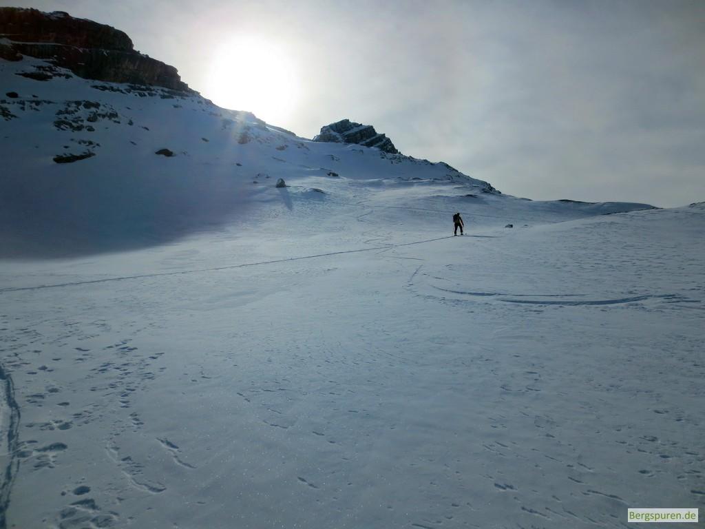 Skitour Birnhorn - Der Gipfel kommt in Sicht