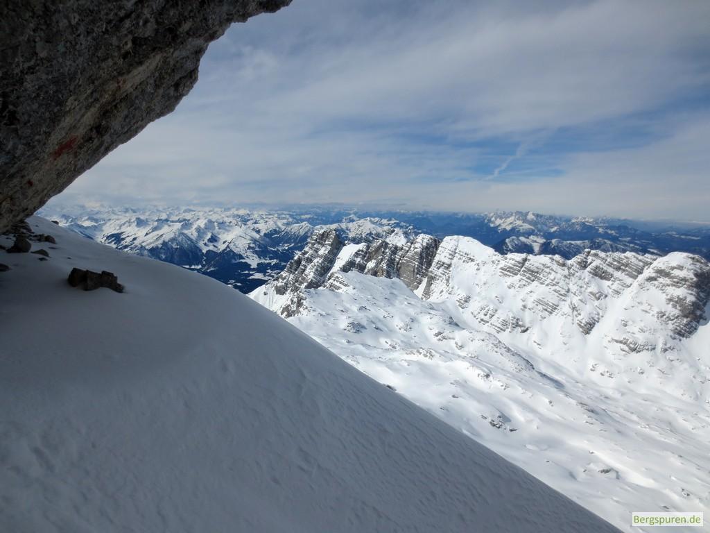 Blick vom Birnhorn-Gipfelanstieg zum Hundshörnl in den Leoganger Steinbergen