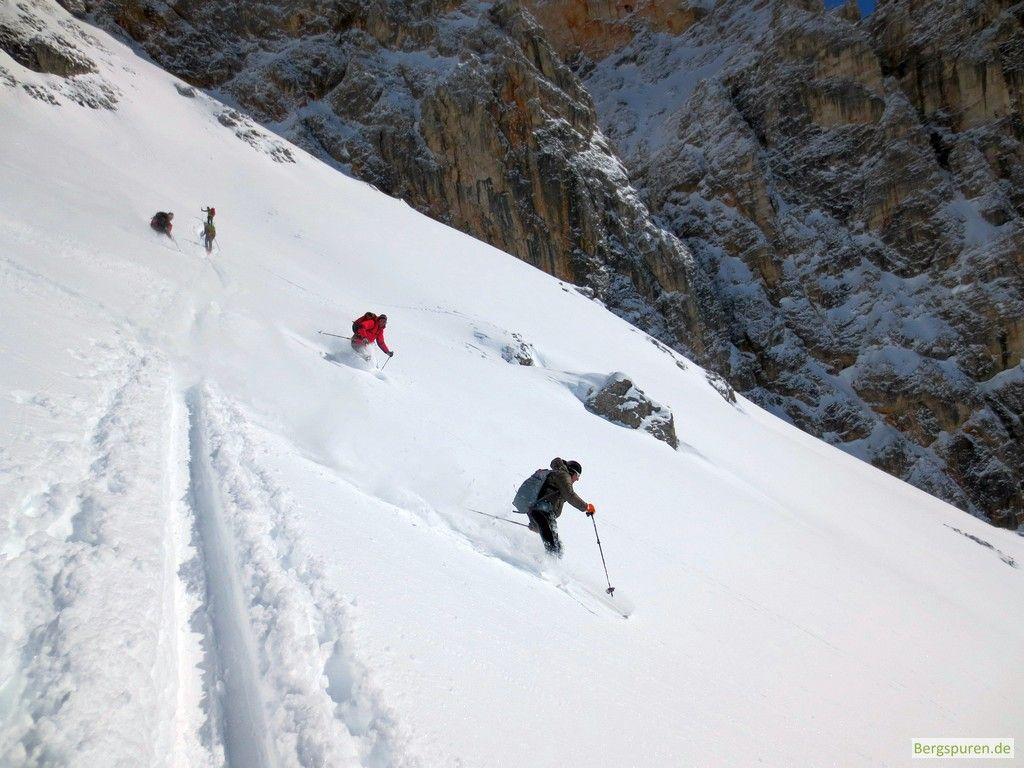 Abfahrt bei der Skitour Buchauer Scharte