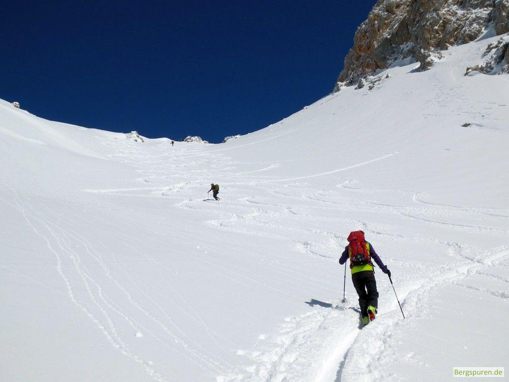 Skitour Buchauer Scharte oberer Teil