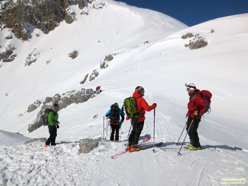 Skitourengeher in der Buchauer Scharte