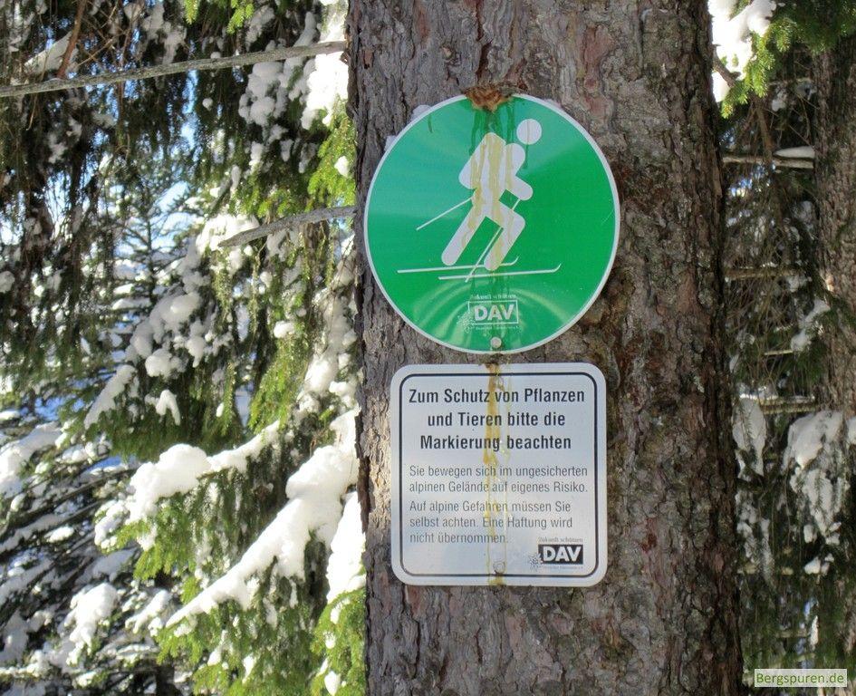DAV Markierung Skiroute Gamsknogel