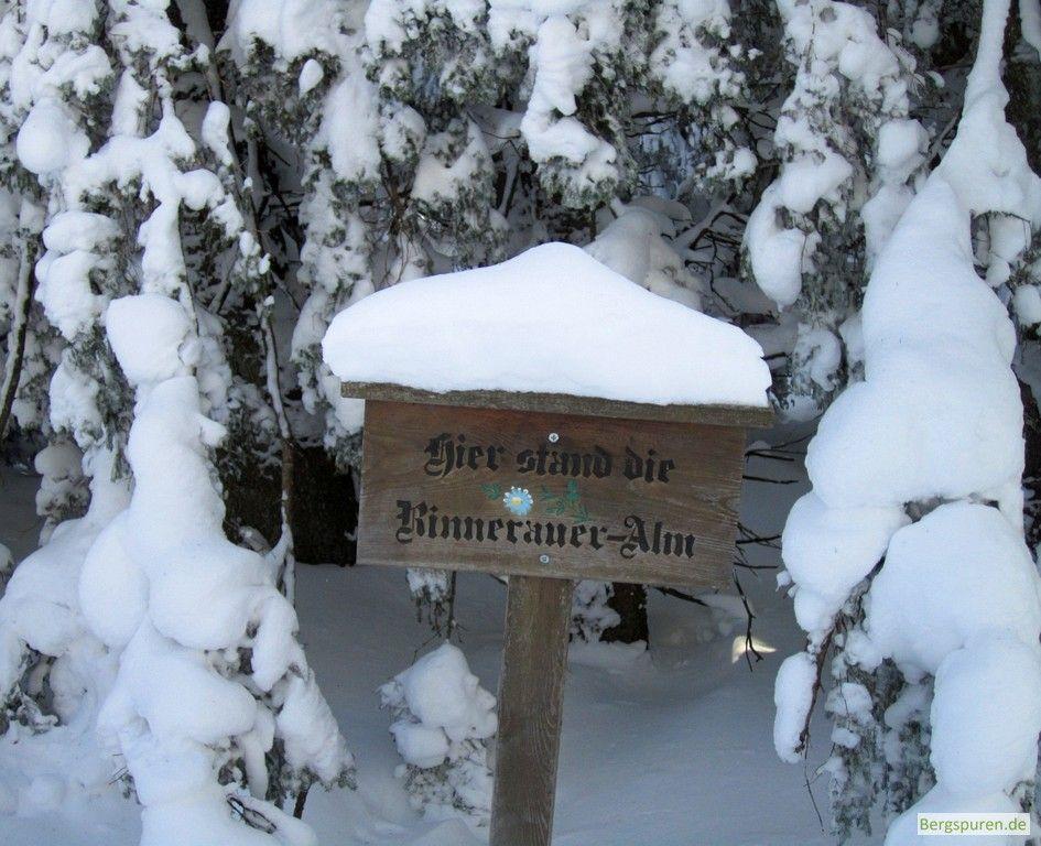 Hinweisschild Standort ehemalige Rinnerauer-Alm