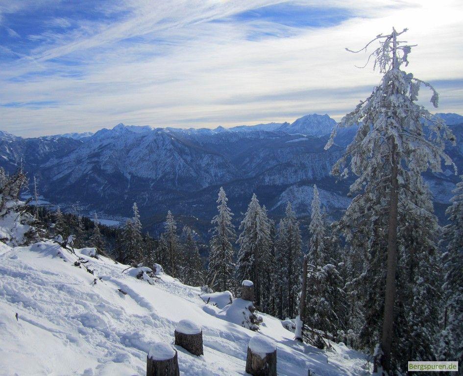Skitour Gamsknogel: Blick zu den Berchtesgadener Alpen