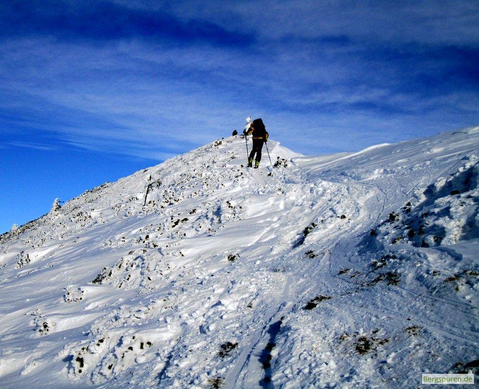 Skitour Gamsknogel: Letzte Meter zum Gipfel