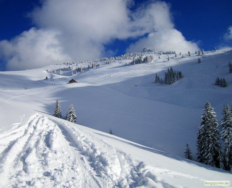 Abfahrt zur Hochalm bei der Skitour Peitingköpfl