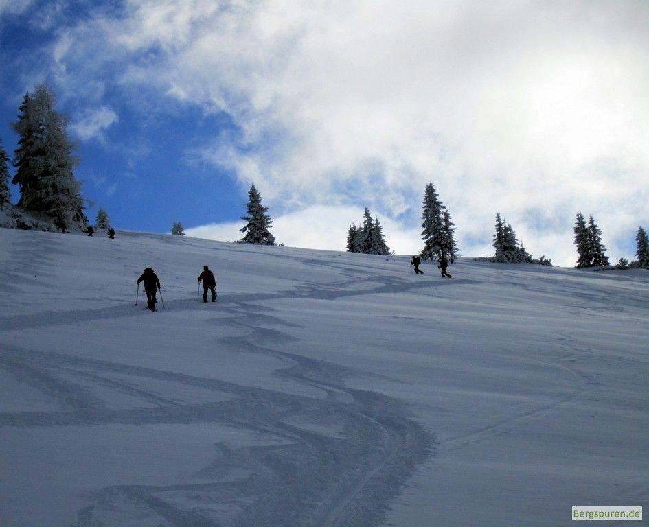 Skitour Peitingköpfl - Aufstieg oberhalb des Ennsmannkasers