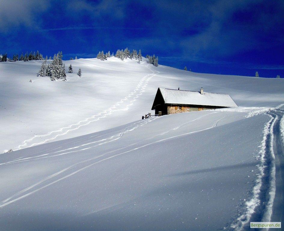 Skitour Peitingköpfl - Aufstiegsspur beim Ennsmannkaser