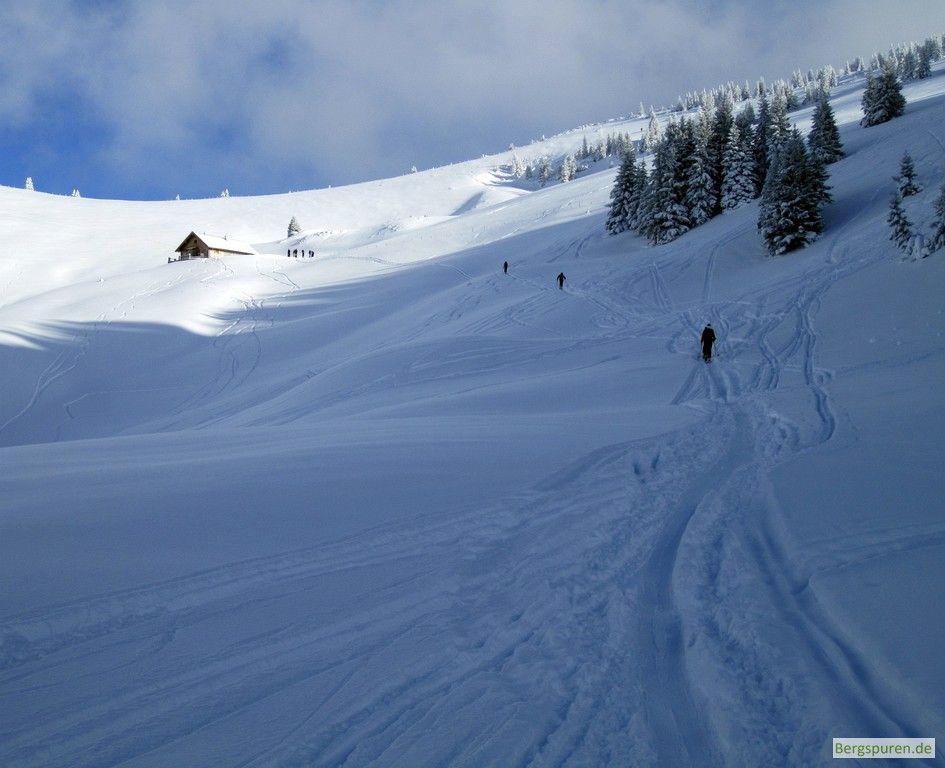 Skitour Peitingköpfl: Querung vor dem Ennsmannkaser