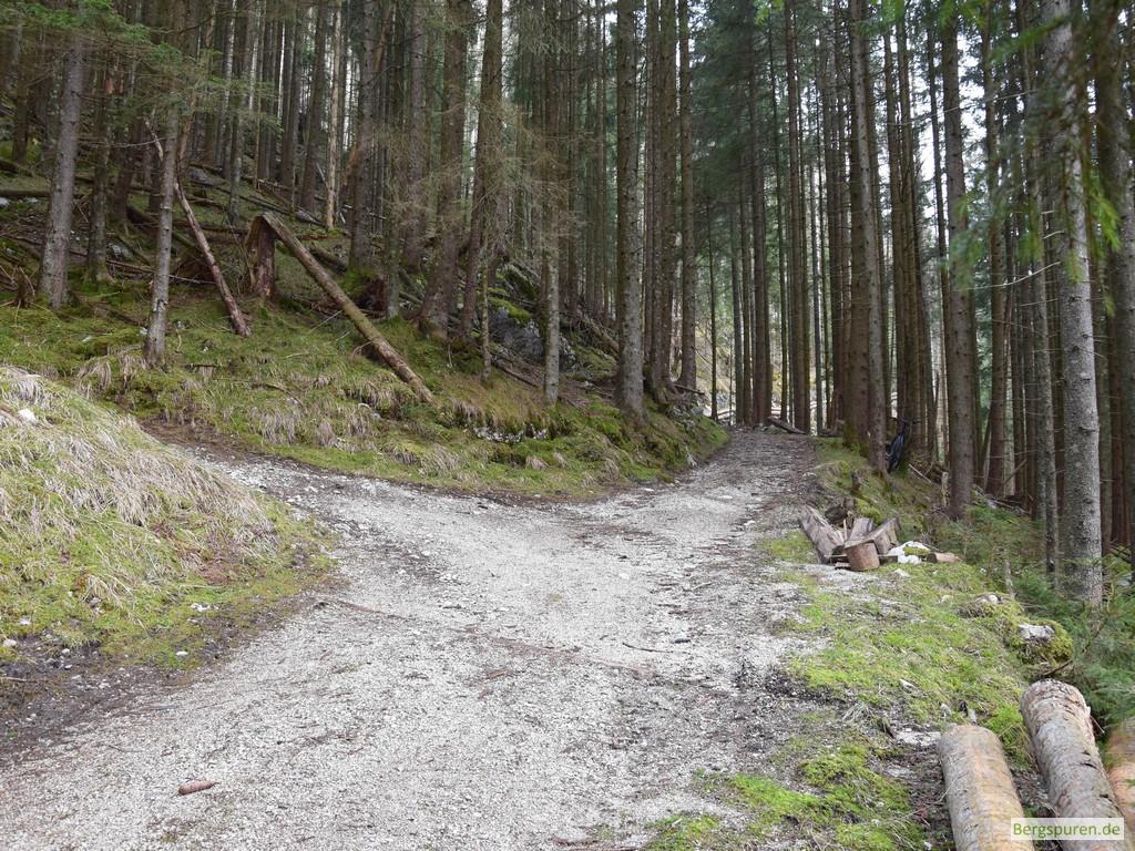 Abzweigung ins Sittersbachtal