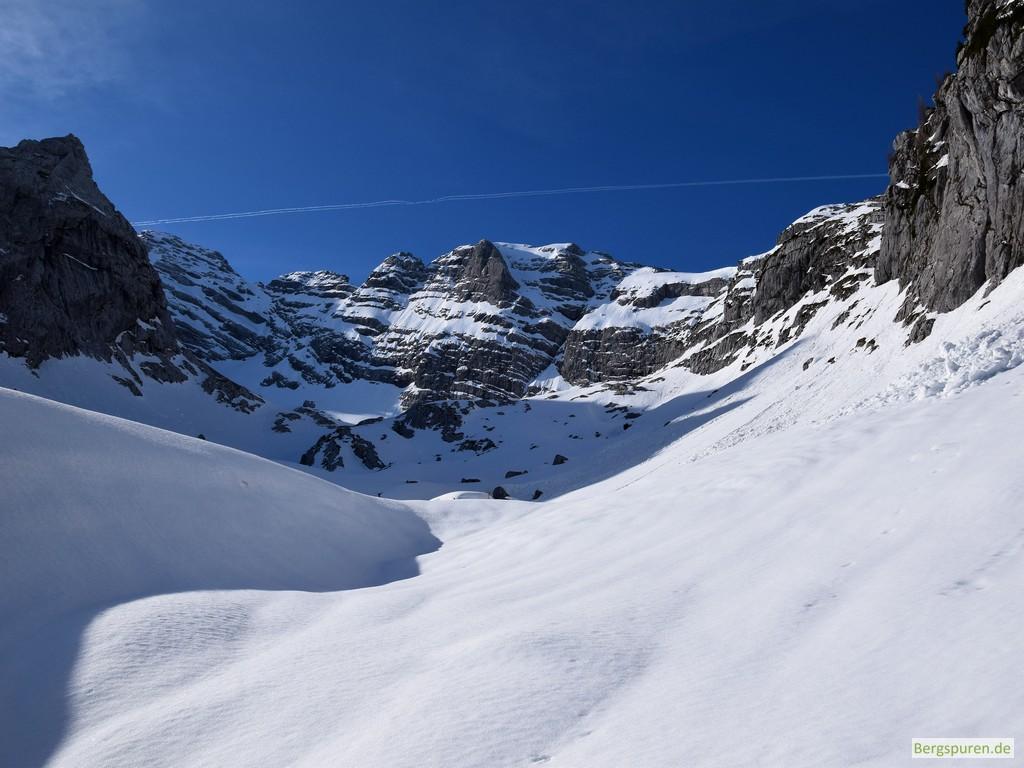 Das verschneite Eisl, einen Nebenkar des Sittersbachtals