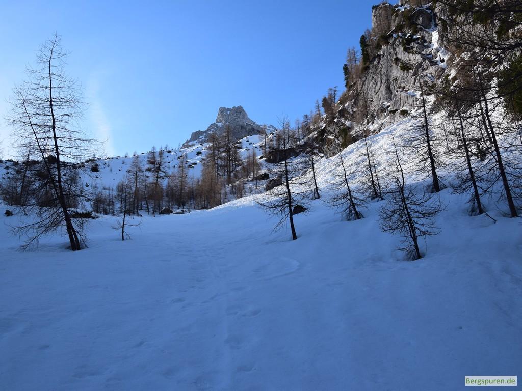 Eislhorn über den Hängen des Sittersbachtals