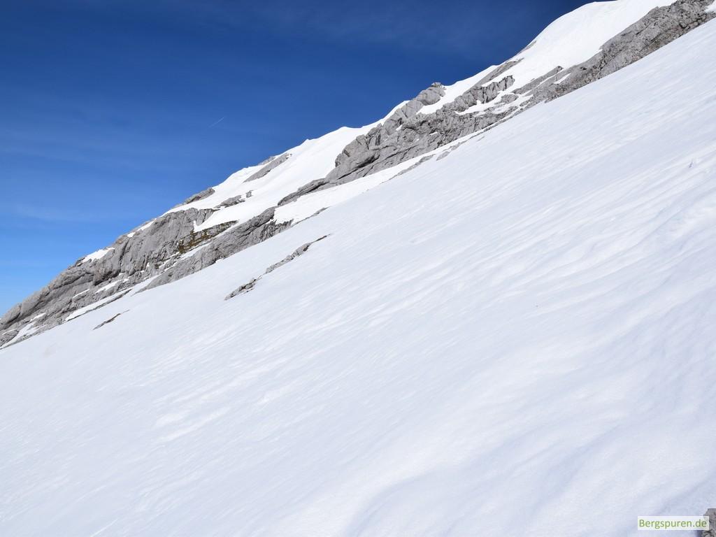 Steintalhörndl Gipfelflanke - oberer Teil