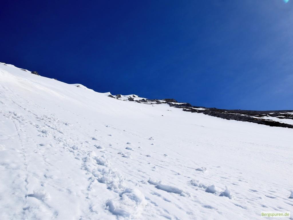 Steintalhörndl Gipfelflanke