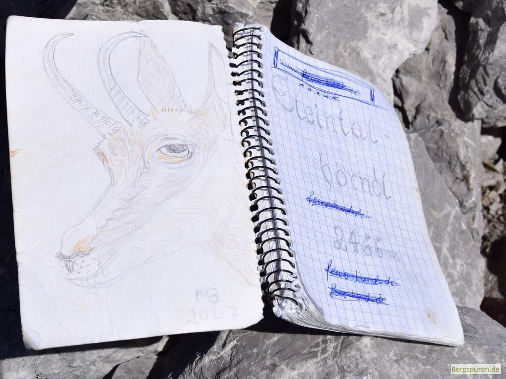 Steintalhörndl - Gipfelbuch
